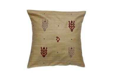 Kilim Embroidered Silk Cushion Cover