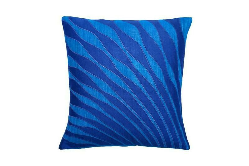 Mor Pankh Embroidered Silk Cushion Cover