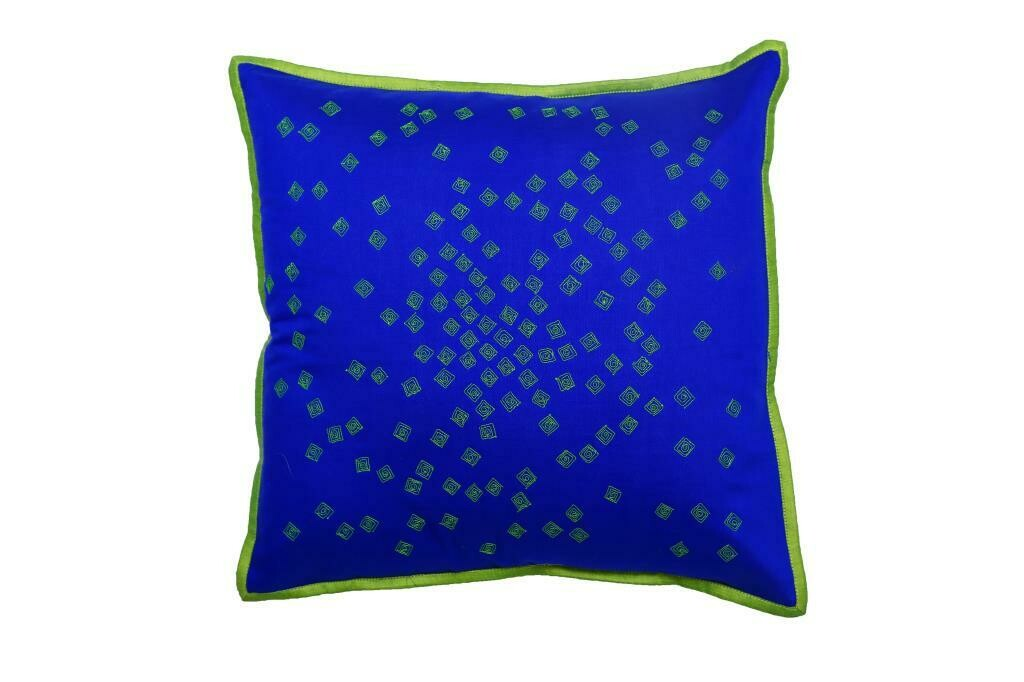 Mukesh Embroidered Silk Cushion Cover
