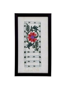 Floral Silk Embroidered Wall Art