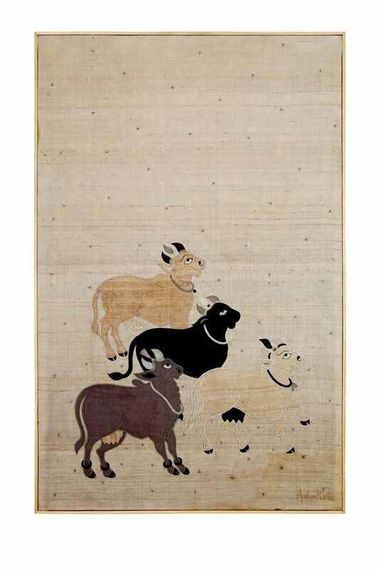 Nandi Silk Patchwork Embroidered Wall Art