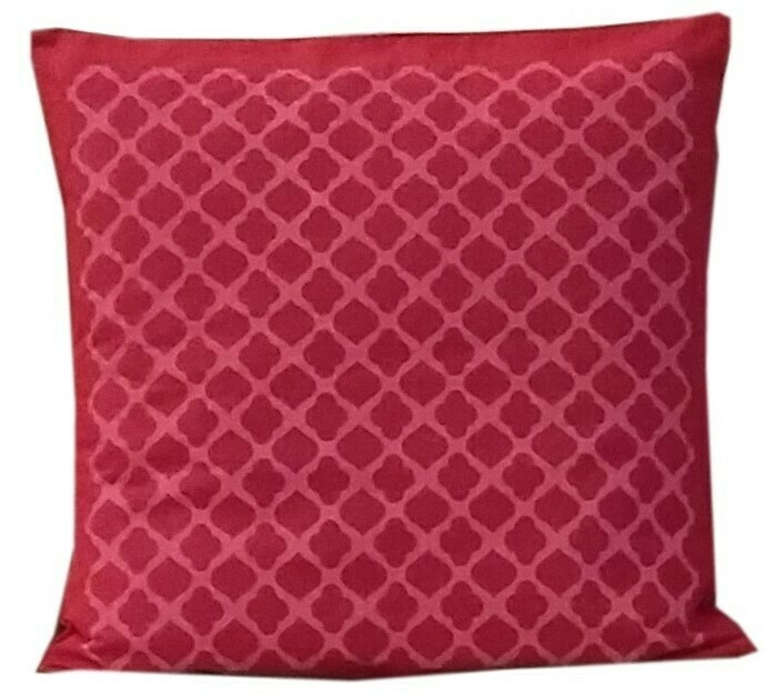 Jalli Printed Cotton Cushion Cover