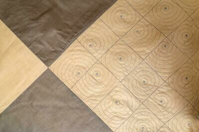 Gudri Silk Embroidered Double Bed Cover
