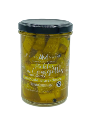 Pickles de Courgettes Corses au Curry