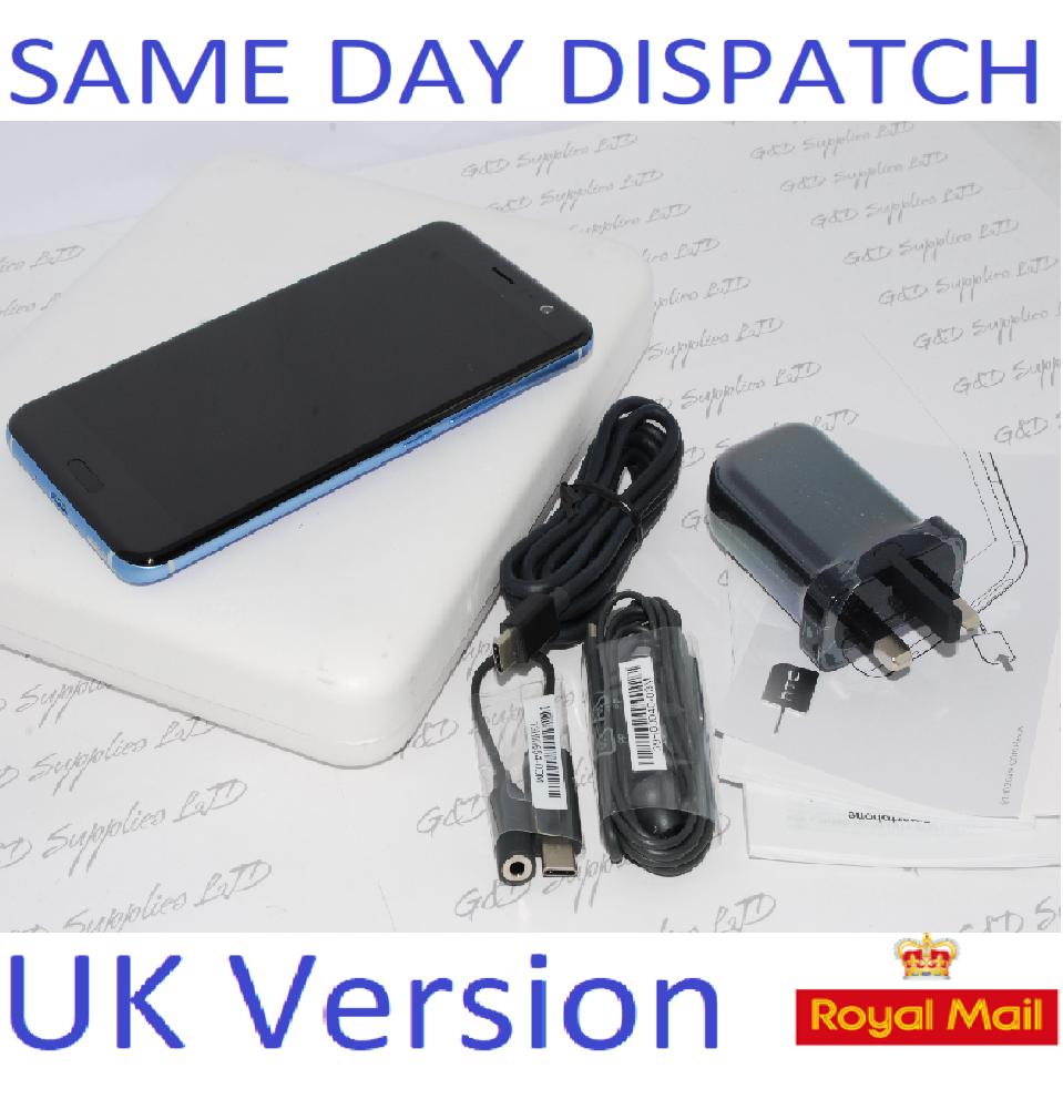 HTC U11 Silver 64GB Factory Unlocked 4G SIM-Free Smartphone  UK STOCK #