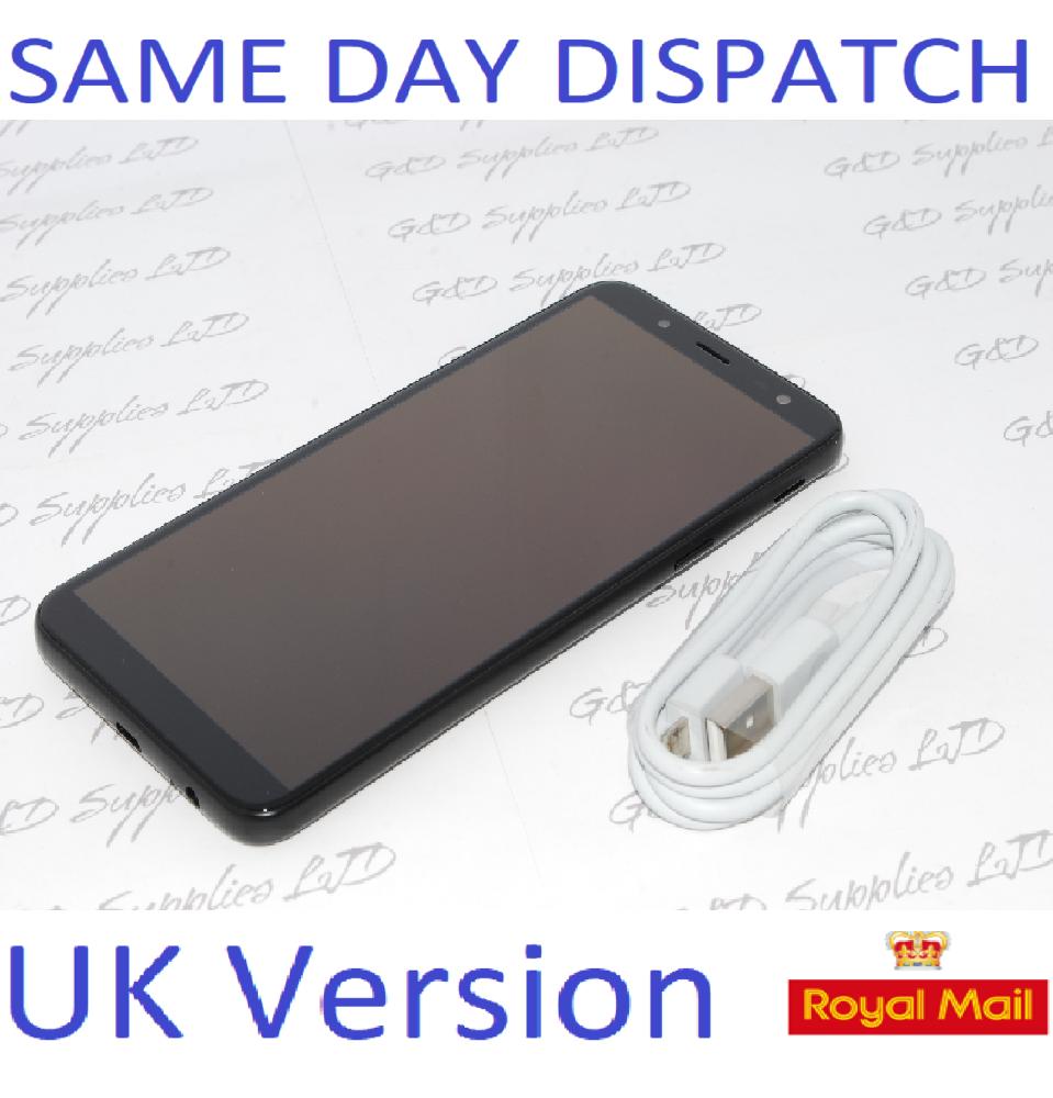 "Samsung Galaxy J6 SM-J600F 32GB 5.6"" 13MP SIM Free Black UK STOCK NO BOX"