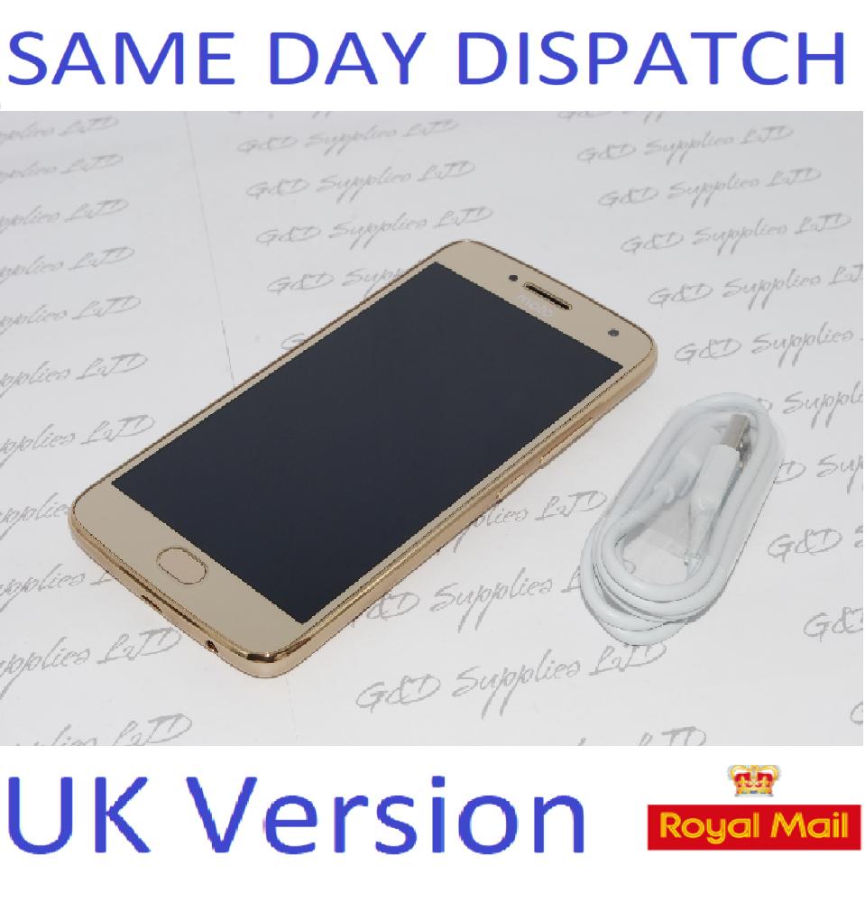 Sim-Free MOTOROLA Moto G5 Plus 32GB Gold 5.2 IPS LCD touchscreen unlocked NO BOX