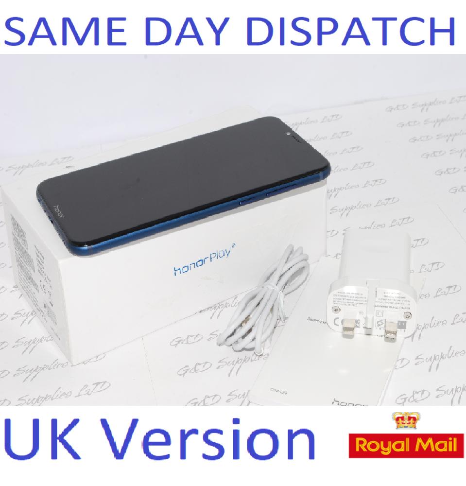 "Huawei Honor Play Navy Blue 6.3"" 64GB Dual Sim 4G LTE UK STOCK"