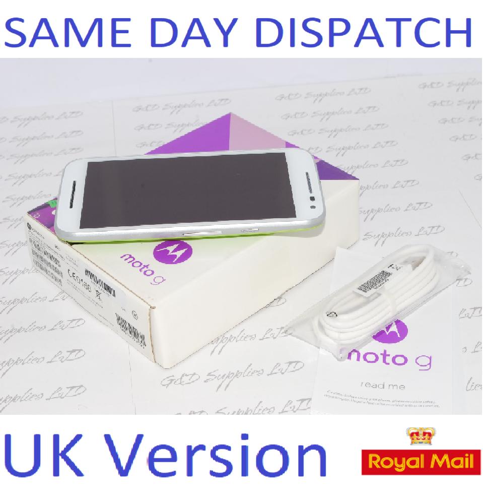 Motorola Moto G 3rd Gen XT1541 8GB White Lime Green 4G-LTE Smartphone #