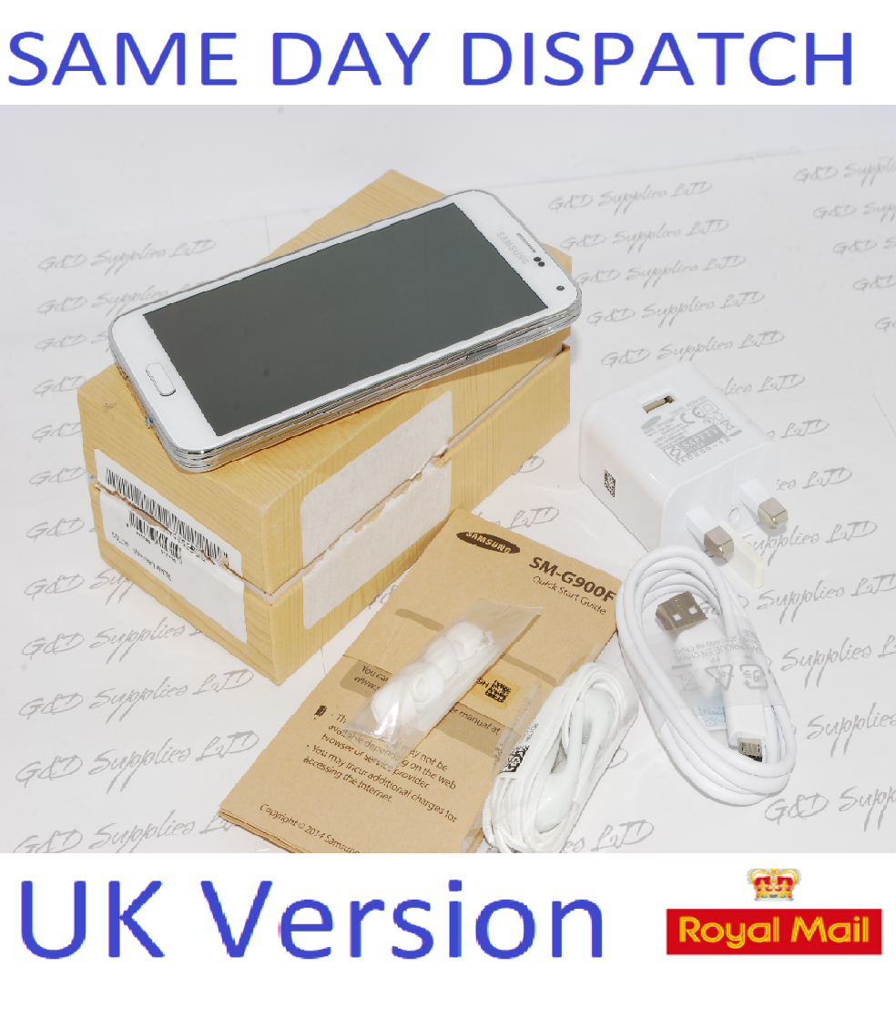 Samsung Galaxy S5 SM-G900F - 16GB UNLOCKED WHITE UK Version #