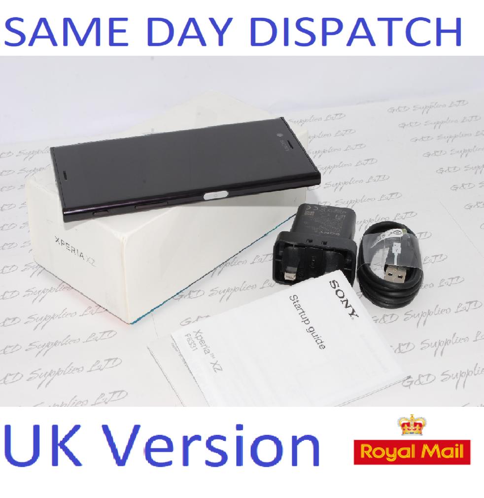 Sony Xperia XZ F8331 black 32GB WiFi NFC GPS 4G  Unlocked Smartphone #
