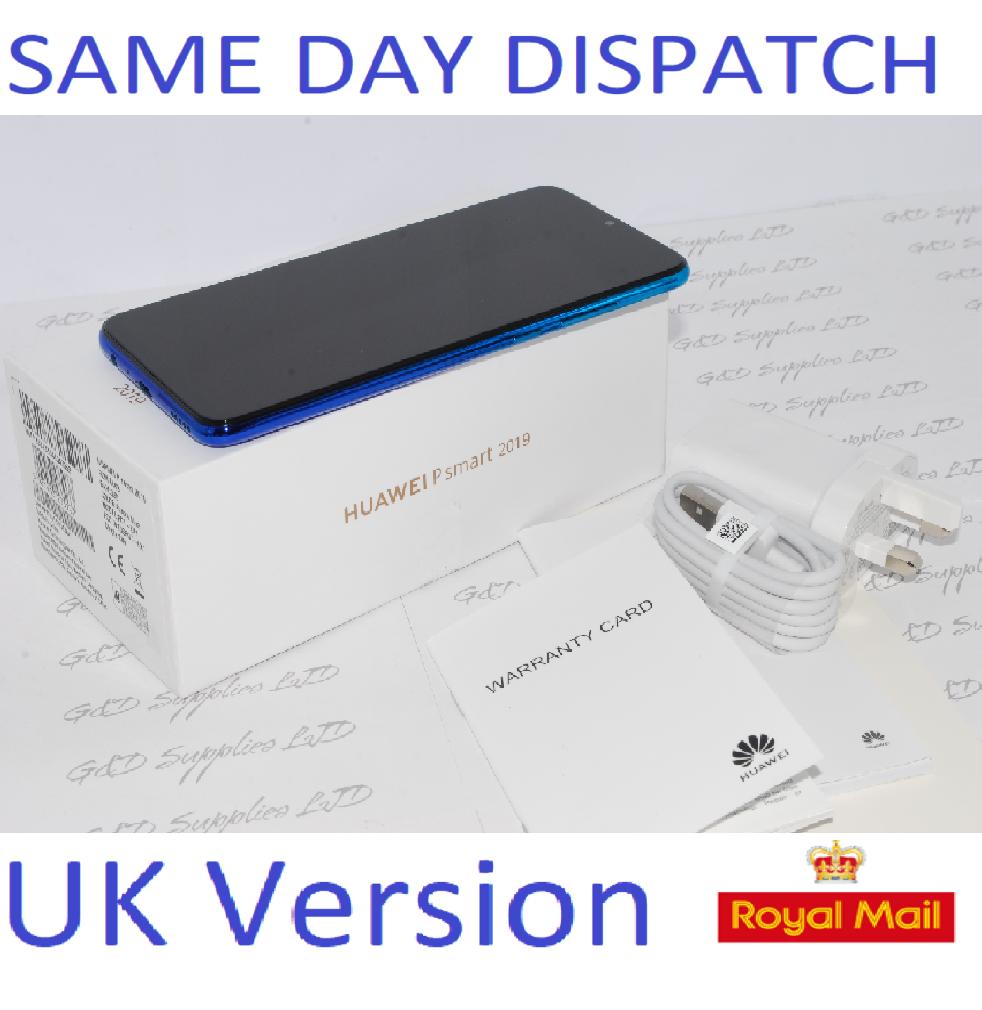 "Huawei P Smart 2019 P0T-LX1 6.21"" Smartphone 3GB RAM 64GB NFC unlocked blue UK Version #"