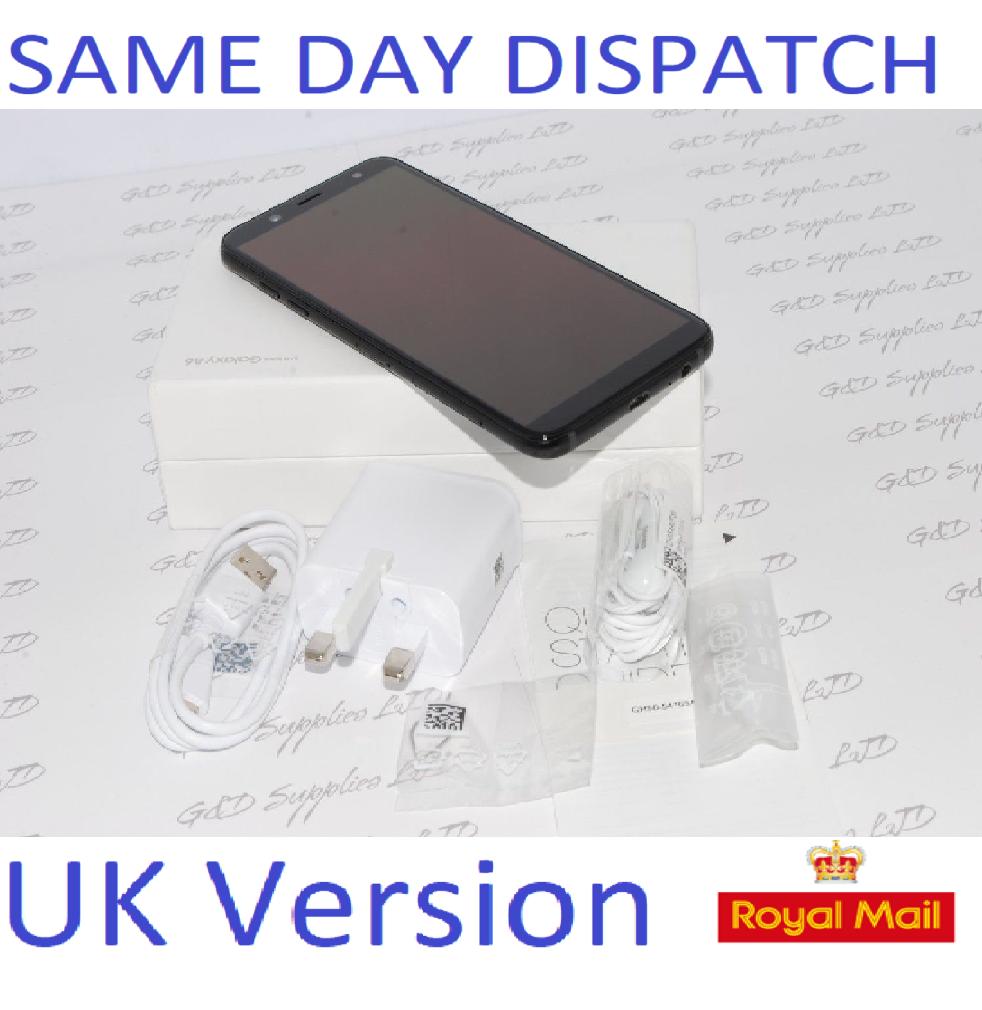 New Samsung Galaxy A6 SM-A600 2018 4G LTE 32GB 16MP UNLOCKED SIM-FREE UK Version Black