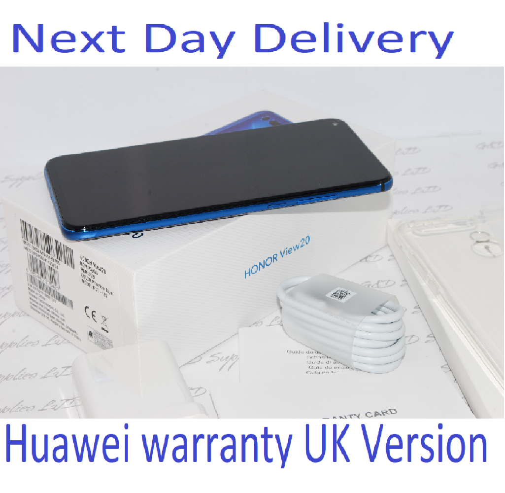 New HONOR View 20 Blue 256GB 8GB Ram Android Dual-SIM Unlocked Huawei  UK version