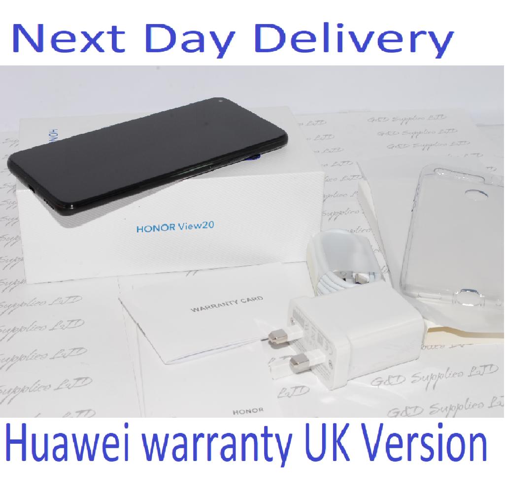 New HONOR View 20 Black 128GB 6GB Ram Android Dual-SIM Unlocked Huawei UK version