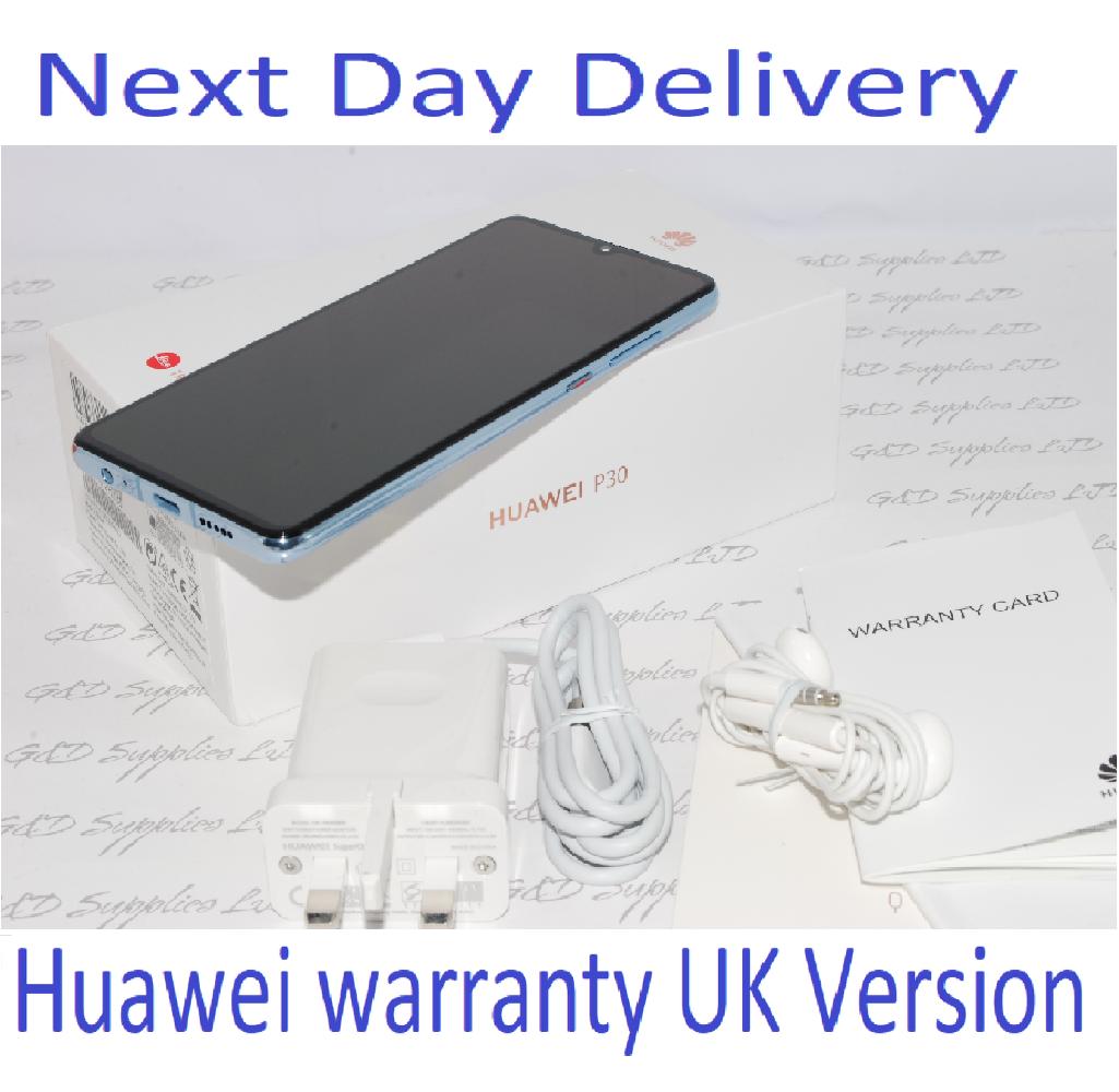 "Huawei P30 Crystal 6.1"" 128GB 6GB  Android 9 Single Sim UNLOCKED UK Version #"