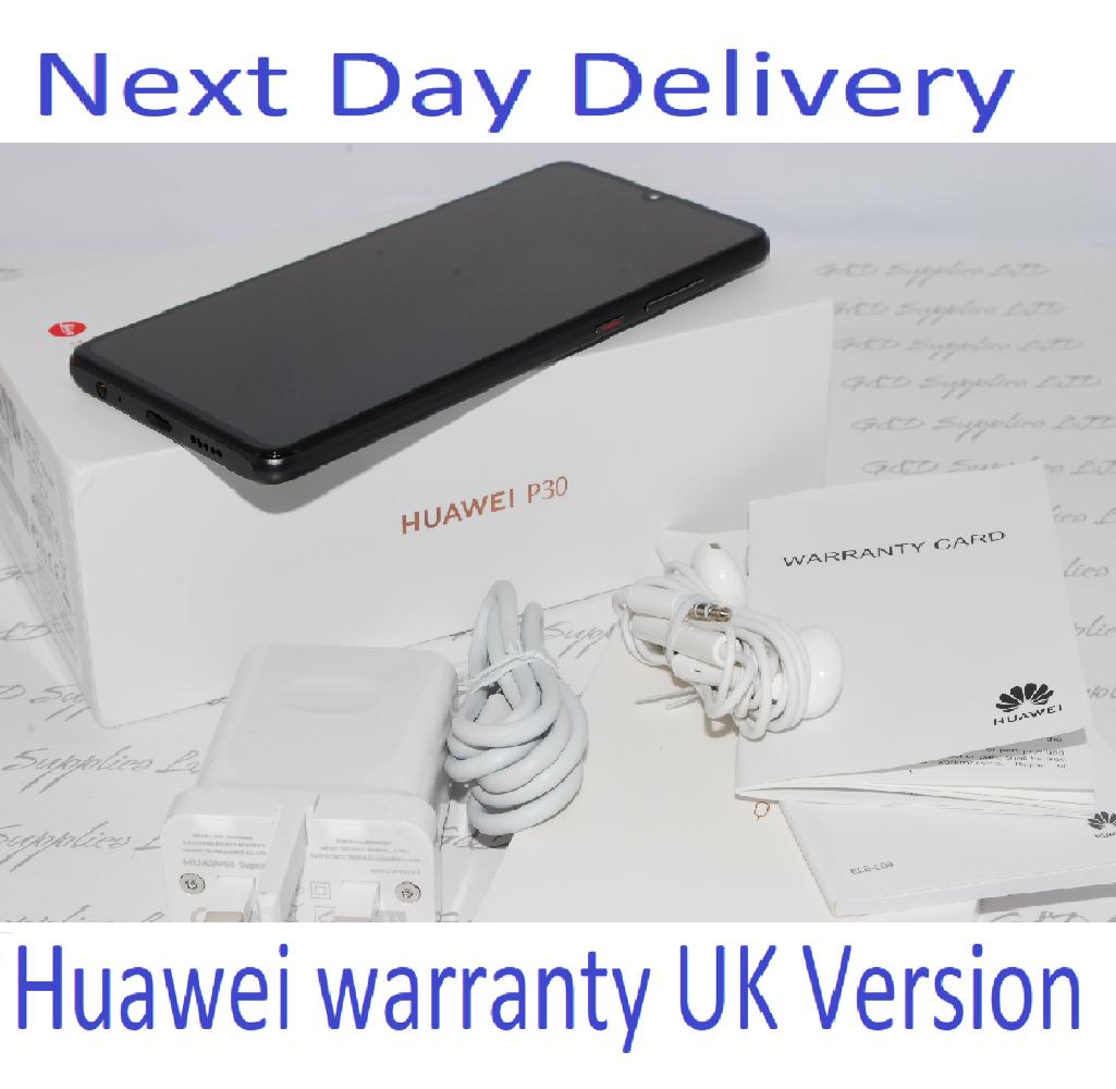 "Huawei P30 6.1"" 128GB 6GB  Black  Android 9 Single Sim UNLOCKED UK Version #"
