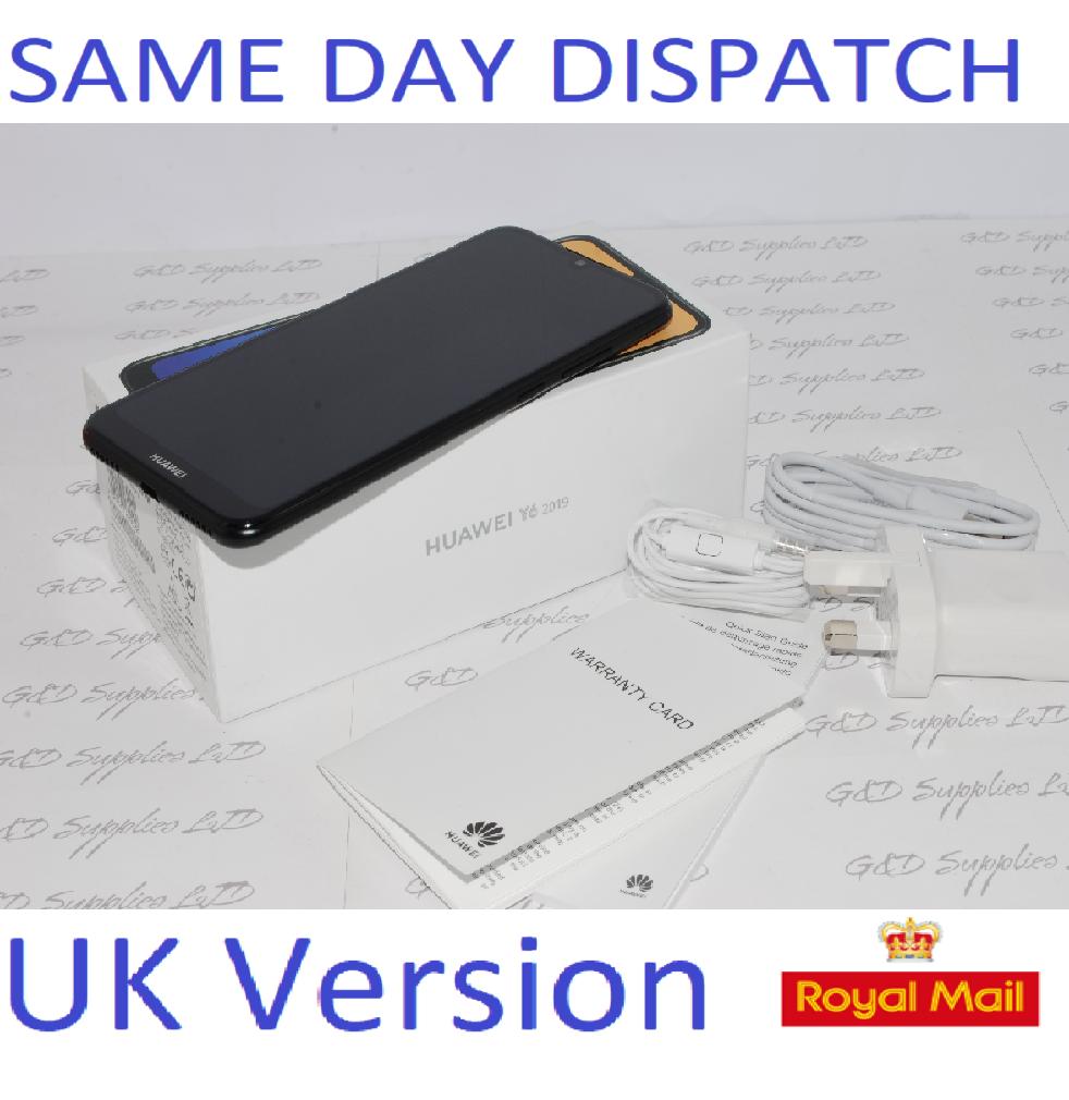 New Huawei Y6 32GB Mobile Phone  Midnight Black unlocked UK version 2019