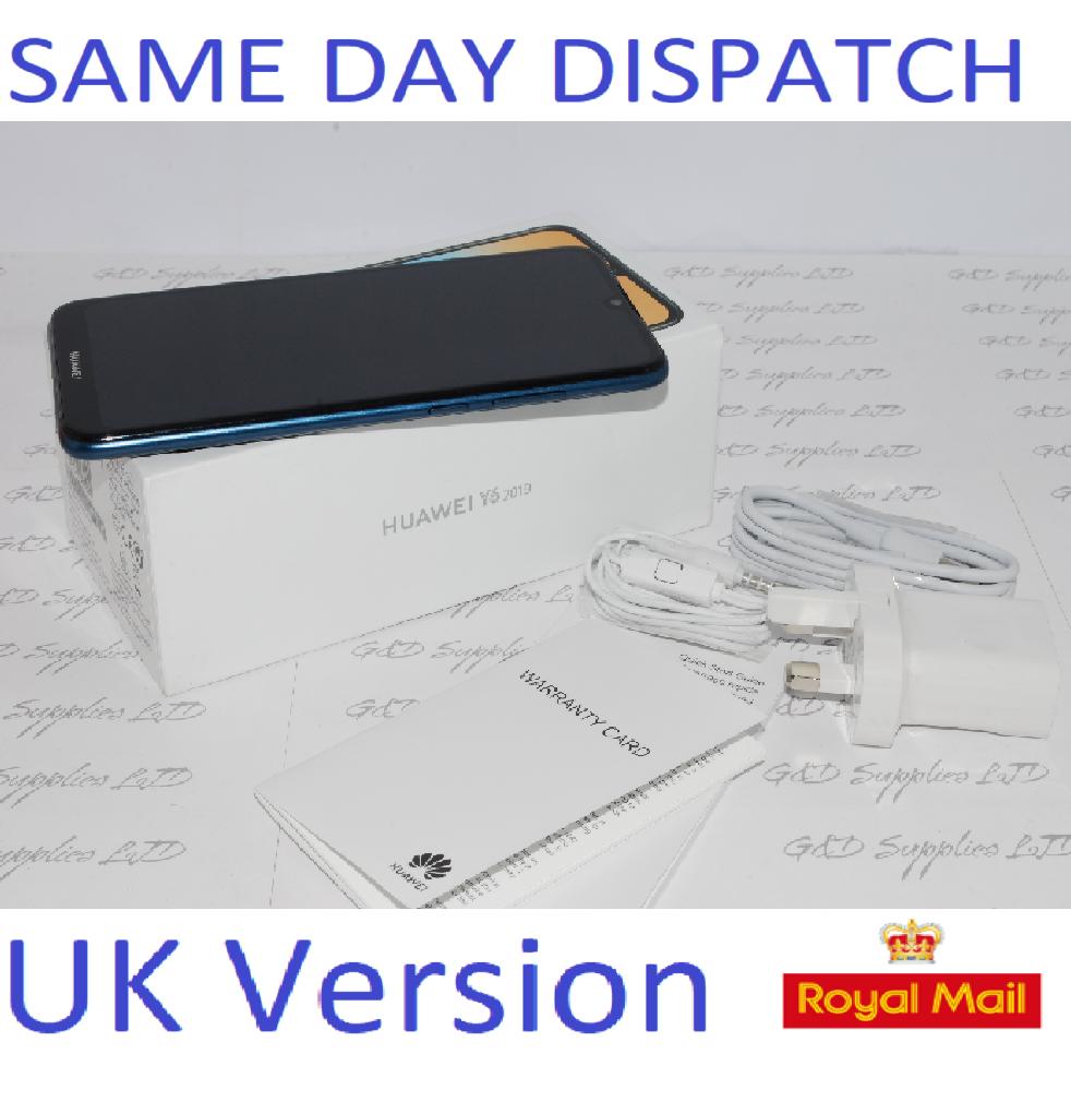 New Huawei Y6 32GB 2019 Mobile Phone Sapphire Blue unlocked UK version