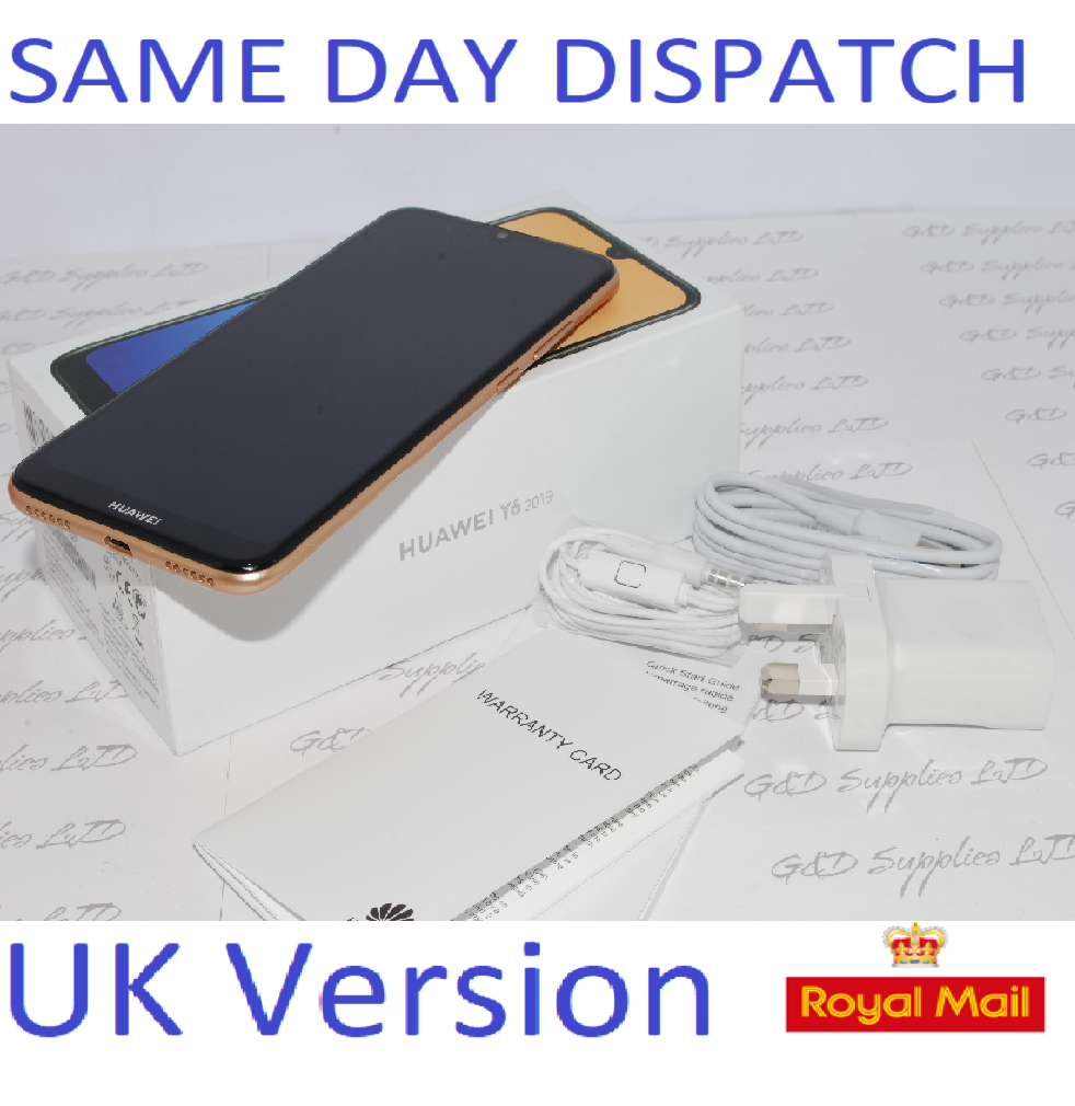 New Huawei Y6 32GB 2019 Mobile Phone Amber Brown unlocked UK version