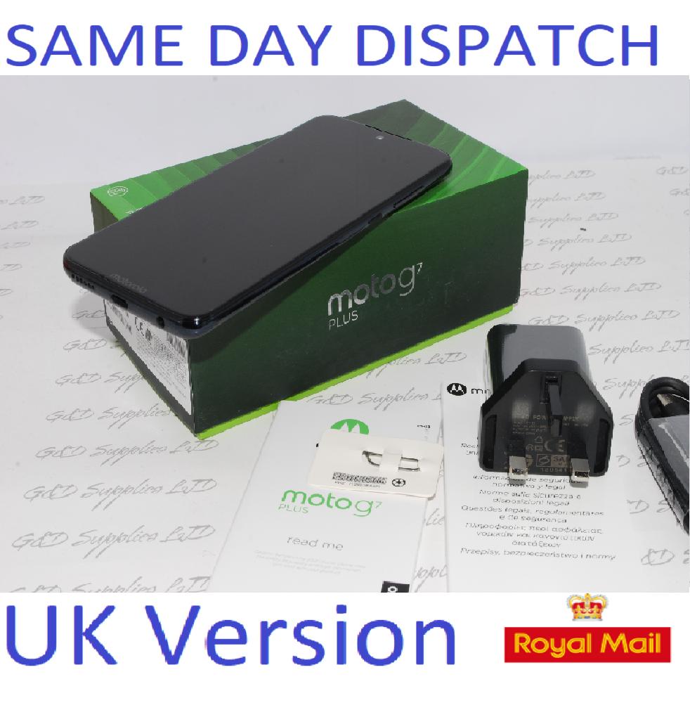 NEW MOTOROLA G7 Plus  64GB XT195-3 Deep Indigo Unlocked Single Sim UK version