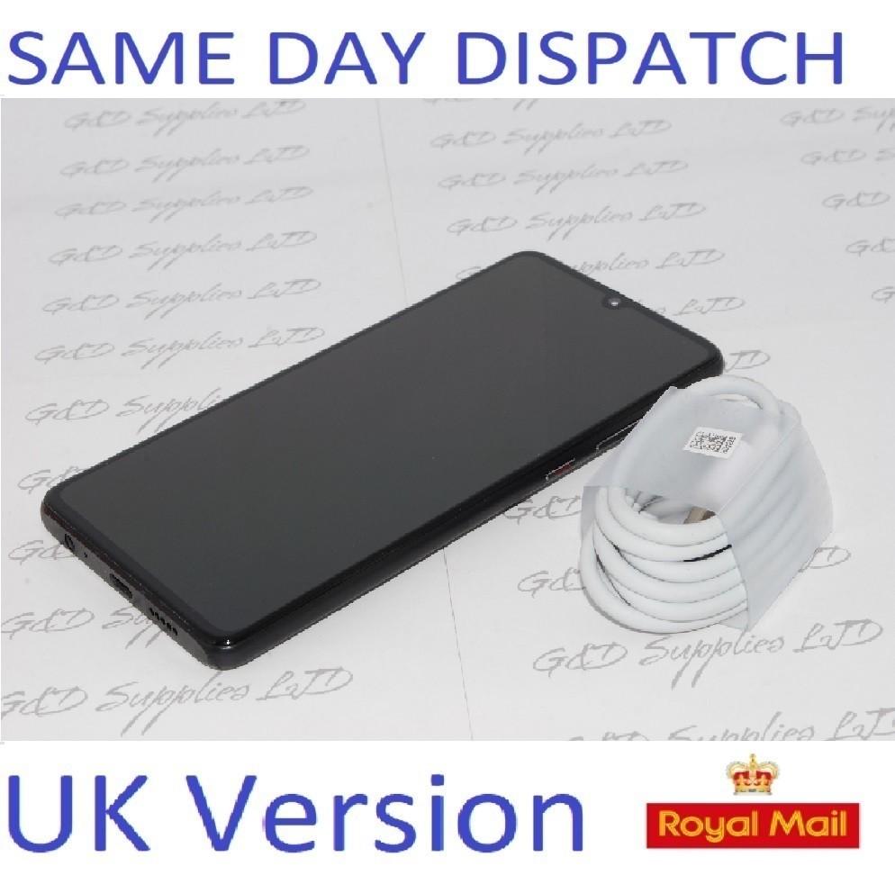 "Huawei P30 Black 6.1"" 128GB 6GB  Android 9 Single Sim UNLOCKED UK Version NO BOX"