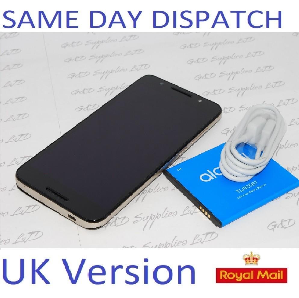 "Alcatel A3 Plus Metallic Black Sim Free 3G 5.5"" FP Sensor Android Unlocked   UK STOCK  NO BOX"