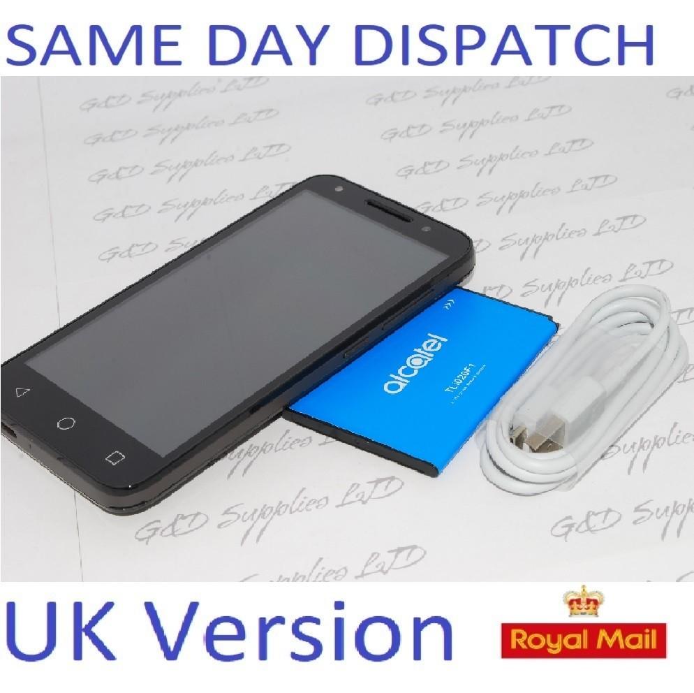 Sim Free Unlocked Alcatel U5 5 Inch 4G 8GB 5MP Android Mobile Phone - Grey 5044Y  NO BOX