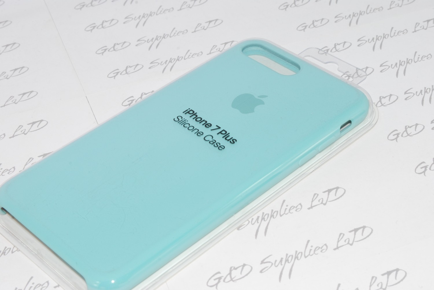 SEA BLUE GENIUNE ORIGINAL OFFICIAL Apple Silicone Case iPhone 7 PLUS 5.5""