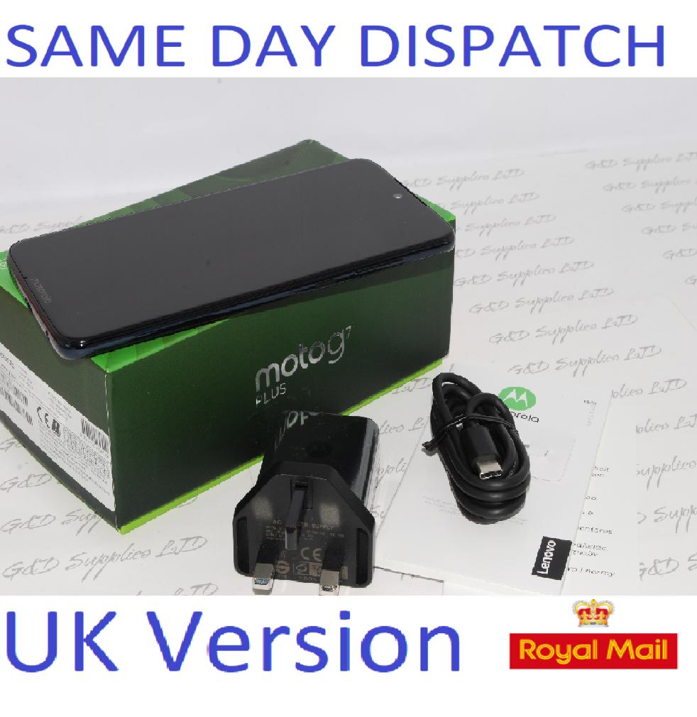 MOTOROLA G7 Plus  64GB XT195-3 Deep Indigo Unlocked Single Sim UK version #