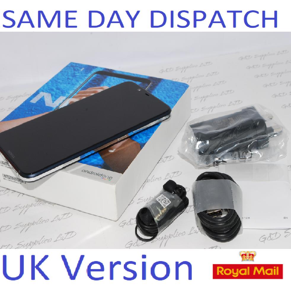 "NEW Nokia 8.1 Blue Sim Free 6.18"" 64GB 4GB Android TA-1128 UK Version NFC"