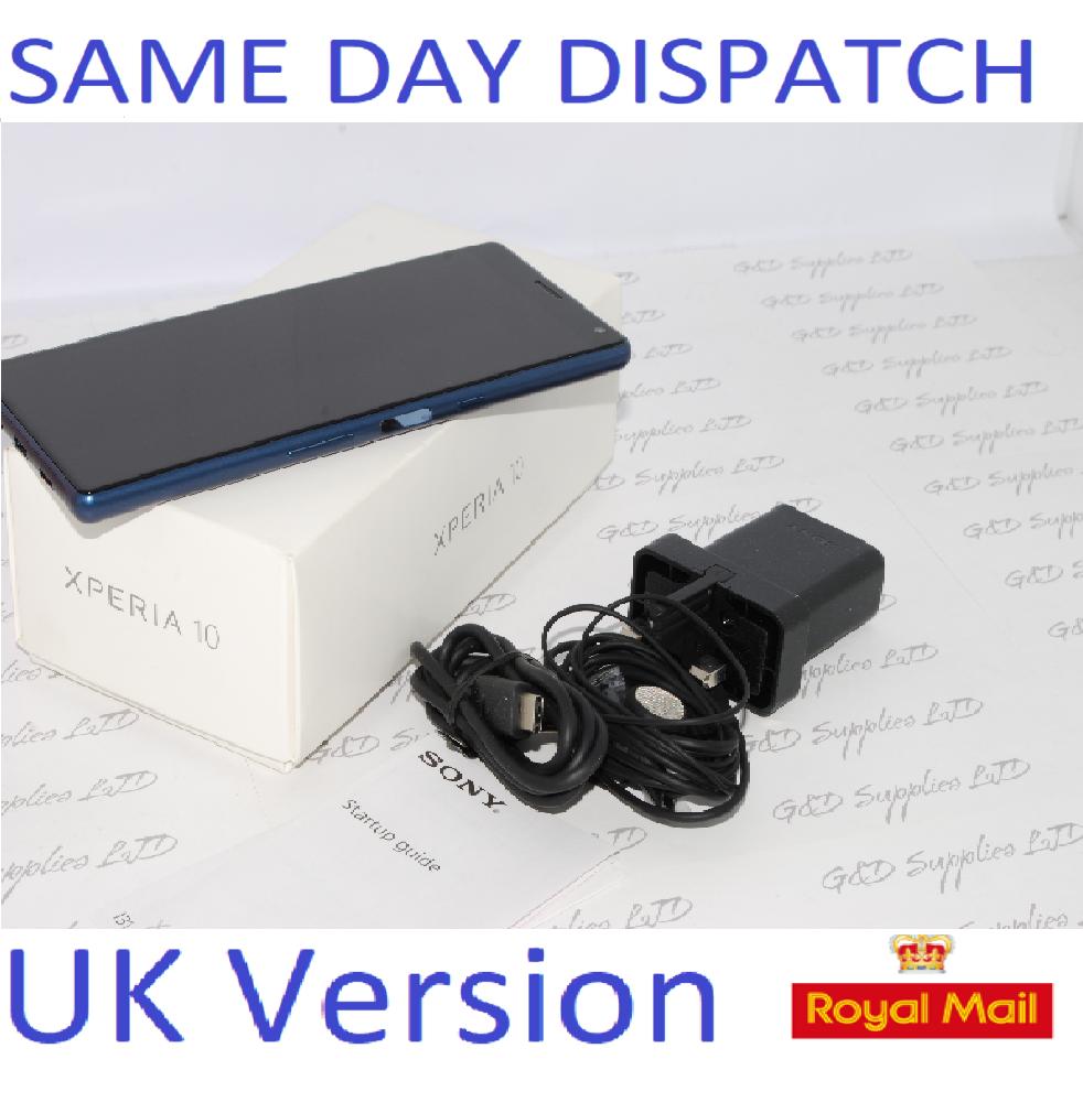 "Sony Xperia 10 Navy 6.0"" 64GB 4G LTE Android 9.0 Sim Free Unlocked UK Stock #"