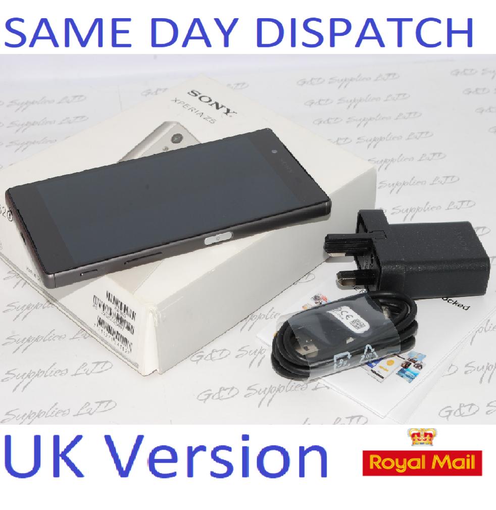 Sony Xperia Z5 E6653 - 32GB - Graphite Black (Unlocked) Smartphone UK STOCK #