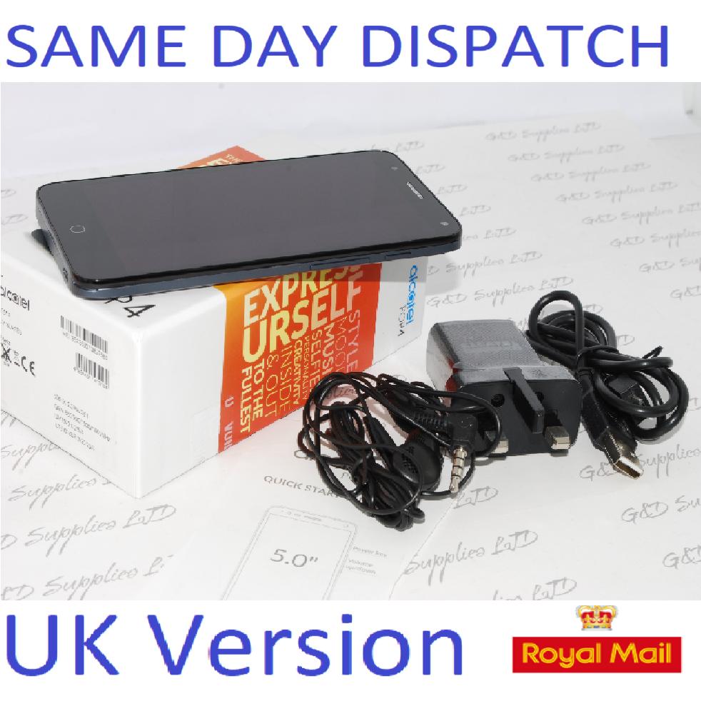 ALCATEL POP 5051X 8GB 5'' BLACK UNLOCKED SMARTPHONE SIM FREE UK STOCK #