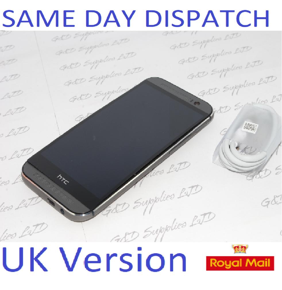 HTC One M8 -16GB Grey Unlocked Smartphone  4G SIM-Free Smartphone  UK STOCK  NO BOX