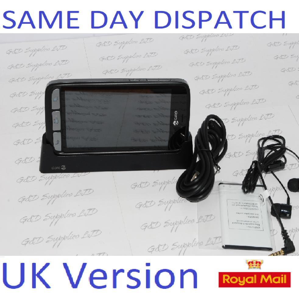 Doro 8030 Black SIM Free 4G android Smartphone sim-free unlocked  easy to use NO BOX