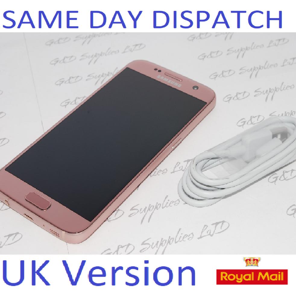 Samsung Galaxy S7 32GB  SM-G930F Unlocked SIM Free Smartphone Rose Gold UK NO BOX #