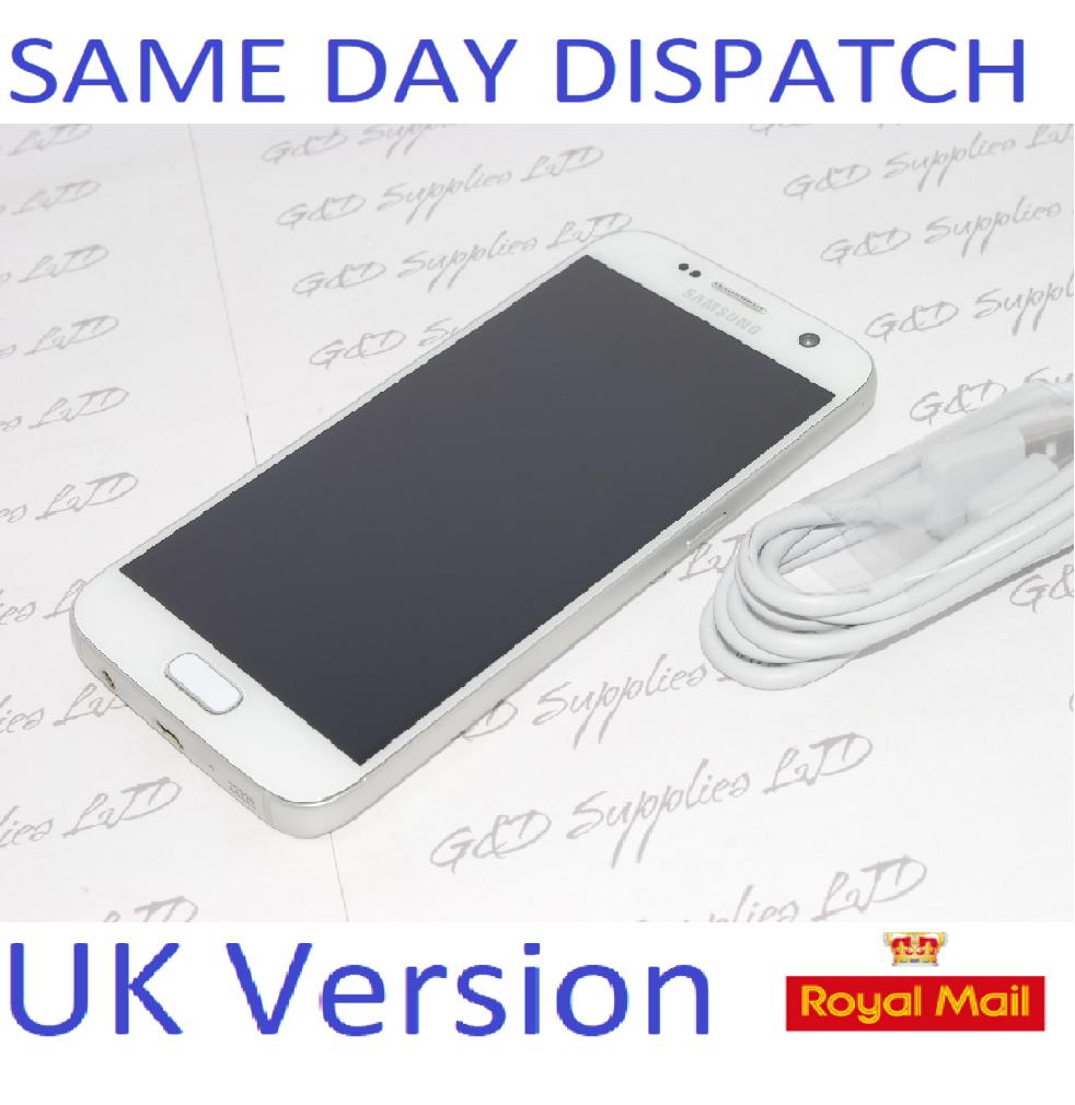Samsung Galaxy S7 32GB  SM-G930F Unlocked SIM Free Smartphone White UK NO BOX #