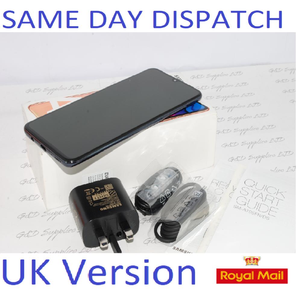 SAMSUNG GALAXY A70 SM-A705F 128GB 2019 4G BLACK NFC Dual Sim UNLOCKED  UK Version #