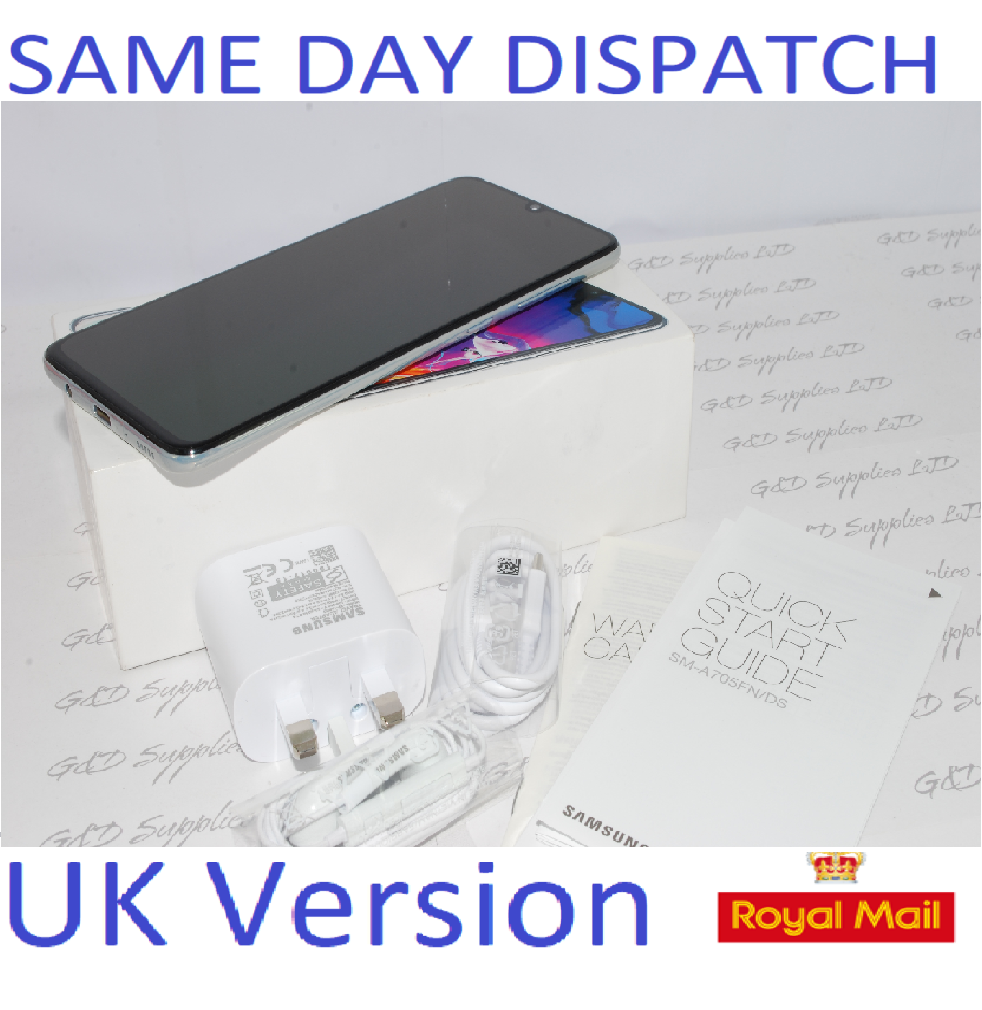 SAMSUNG GALAXY A70 SM-A705F 128GB 2019 4G WHITE Dual Sim UNLOCKED  UK Version #
