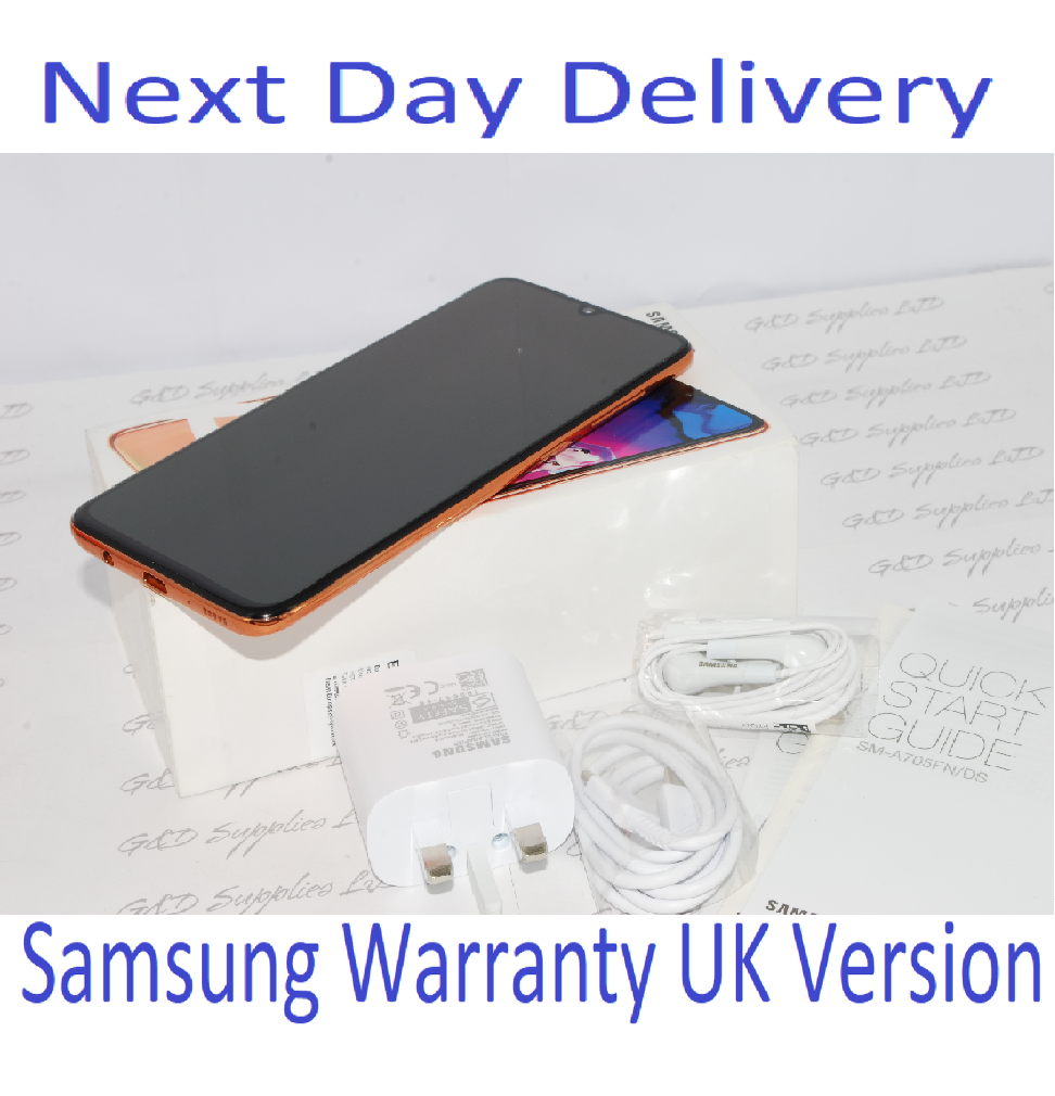 NEW SAMSUNG GALAXY A70 SM-A705F 128GB 2019 4G coral NFC Dual Sim UNLOCKED  UK Version