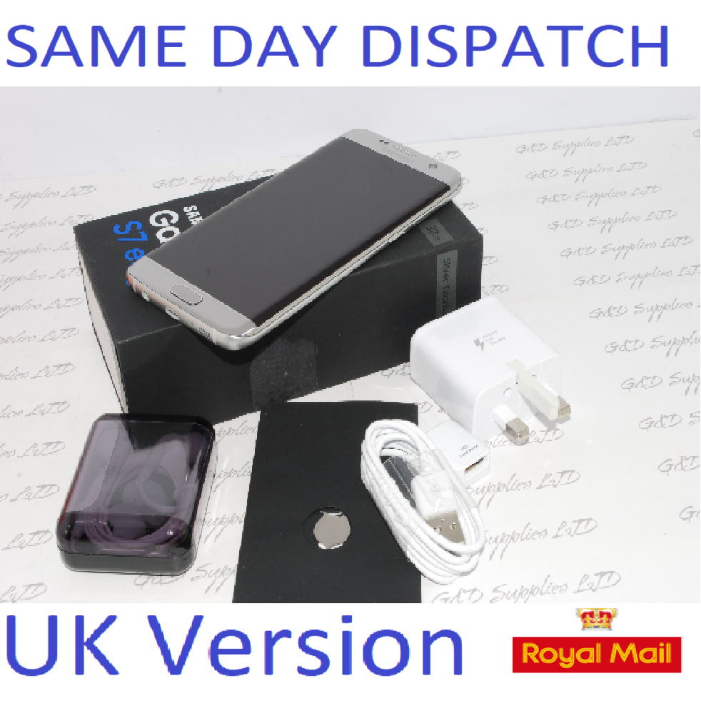 Samsung Galaxy S7 32GB  Edge G935F Unlocked SIM Free Smartphone Silver UK