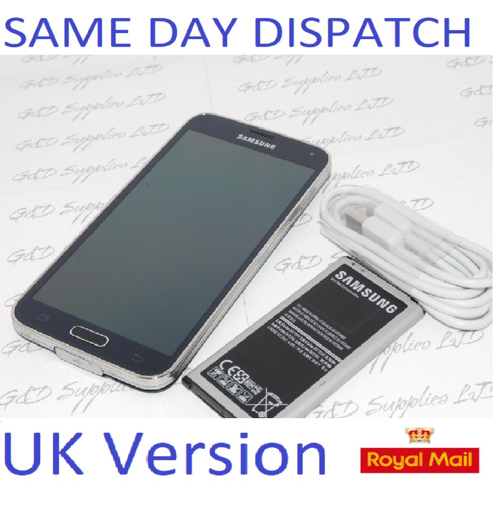 Samsung Galaxy S5 SM-G900F - 16GB UNLOCKED blue  UK Version no box