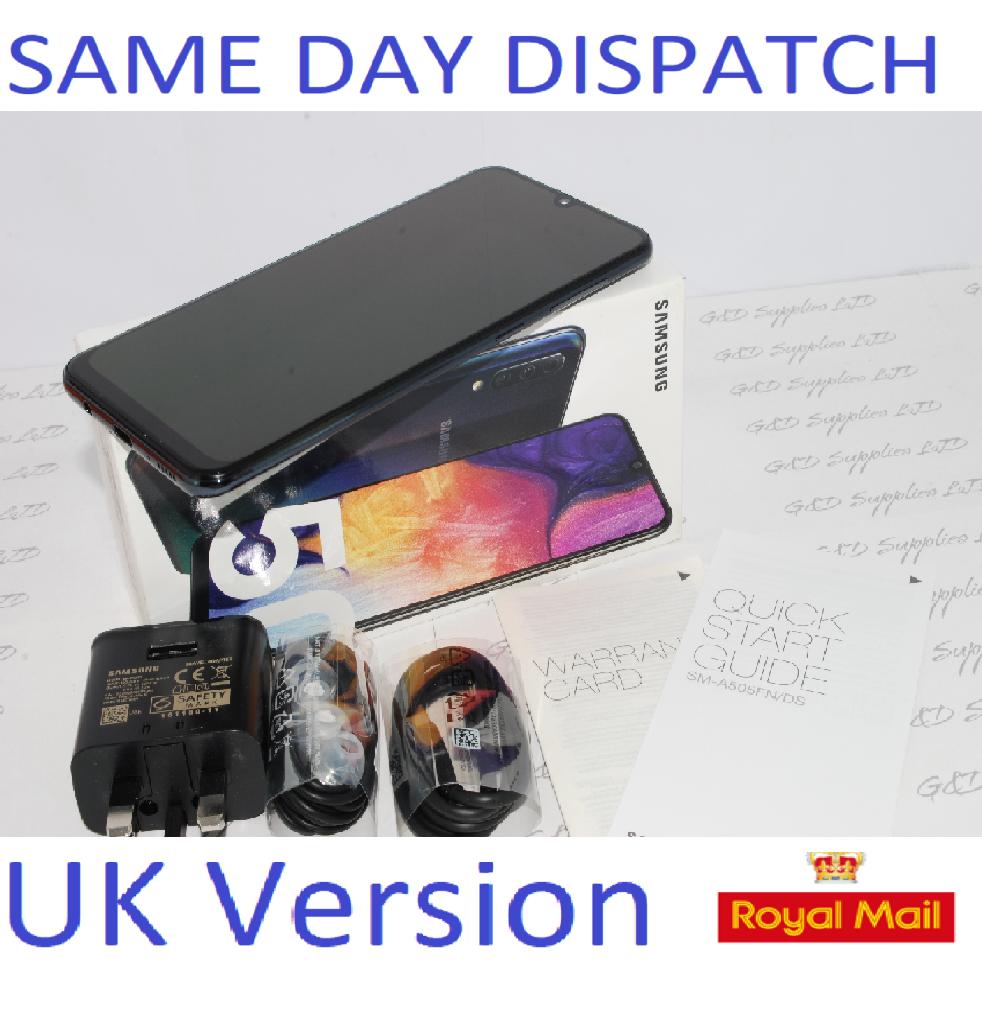 SAMSUNG Galaxy A50 Black  4GB 128GB NFC  dual SIM Unlocked Smartphone  UK Version #