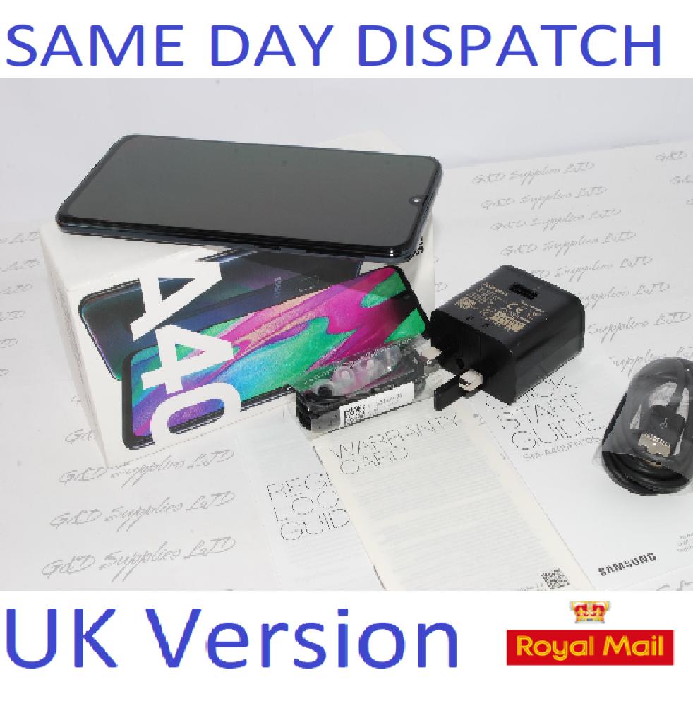 SAMSUNG A40 SM-A405F 64GB 2019 4G LTE DUAL SIM BLACK NFC Unlocked  UK Version #