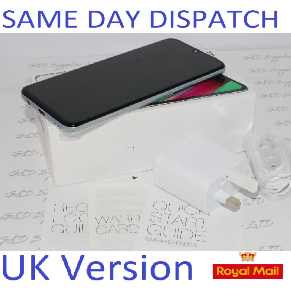 NEW SAMSUNG A40 SM-A405F 64GB 2019 4G LTE DUAL SIM WHITE NFC Unlocked  UK Version