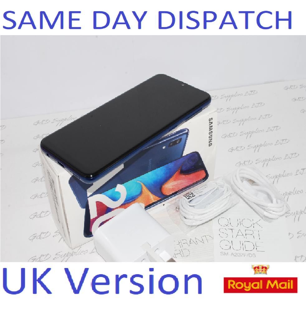 Samsung Galaxy A20e BLUE Dual Sim 4G Unlocked dual SIM NFC Smartphone  UK Version #