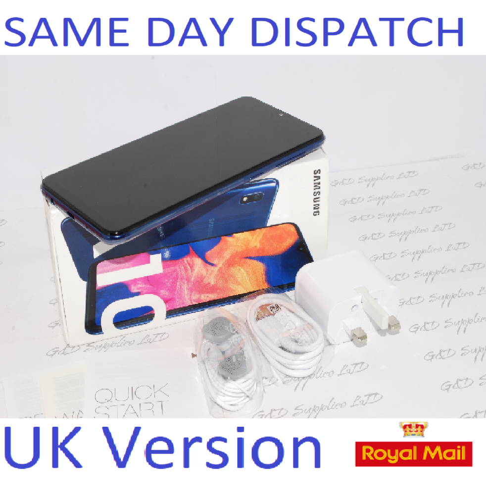 NEW Samsung Galaxy A10 Dual Sim (2019) 32GB 4G LTE NFC blue Unlocked UK Version