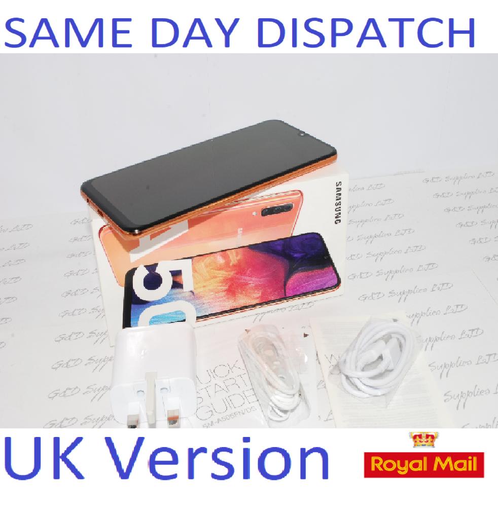 # SAMSUNG Galaxy A50 CORAL 4GB 128GB NFC dual SIM Unlocked Smartphone  UK Version