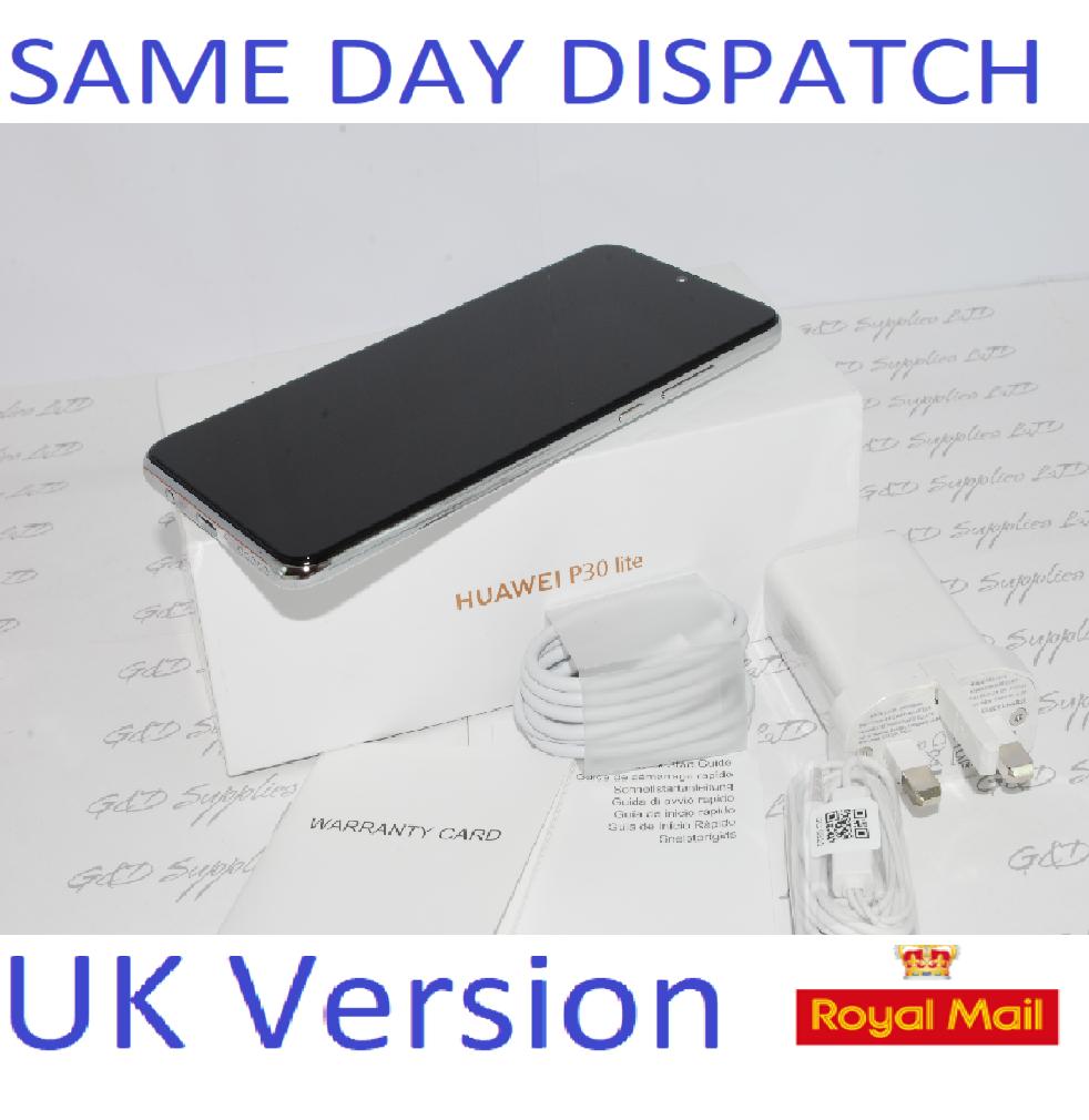NEW Huawei P30 Lite  4G Smartphone 4GB RAM 128GB Single Sim WHITE UNLOCKED UK Version